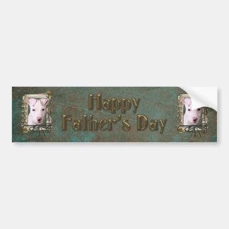 Fathers Day - Stone Paws - Pitbull Puppy Bumper Sticker