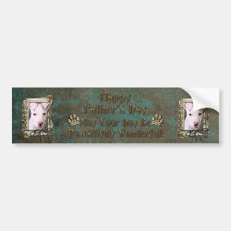 Fathers Day - Stone Paws - Pitbull Puppy Bumper Sticker