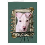 Fathers Day - Stone Paws - Pitbull Puppy Card
