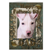Fathers Day - Stone Paws - Pitbull Puppy - Petey Card