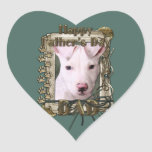 Fathers Day - Stone Paws - Pitbull Puppy - Petey Stickers