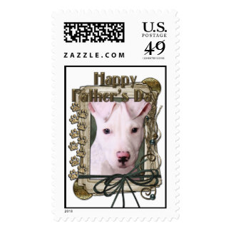 Fathers Day - Stone Paws - Pitbull Puppy Stamp