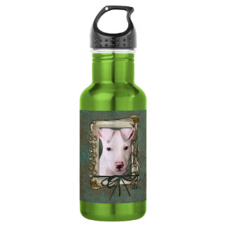 Fathers Day - Stone Paws - Pitbull Puppy Stainless Steel Water Bottle