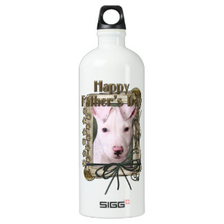 Fathers Day - Stone Paws - Pitbull Puppy Water Bottle