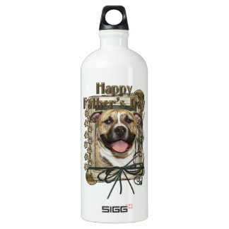 Fathers Day - Stone Paws - Pitbull - Tigger Aluminum Water Bottle