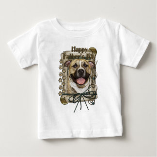 Fathers Day - Stone Paws - Pitbull - Tigger Baby T-Shirt