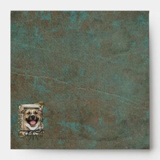 Fathers Day - Stone Paws - Pitbull - Tigger Envelope