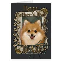 Fathers Day - Stone Paws - Pomeranian Card