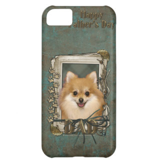 Fathers Day - Stone Paws - Pomeranian iPhone 5C Cases