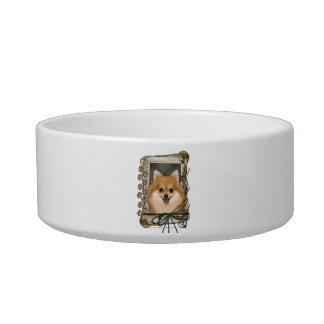 Fathers Day - Stone Paws - Pomeranian Cat Bowls