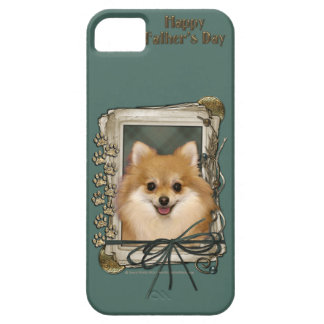 Fathers Day - Stone Paws - Pomeranian iPhone SE/5/5s Case