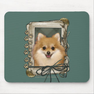 Fathers Day - Stone Paws - Pomeranian Mouse Pad