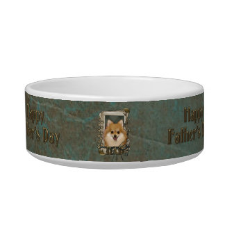 Fathers Day - Stone Paws - Pomeranian Cat Food Bowl