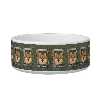 Fathers Day - Stone Paws - Pomeranian Cat Water Bowls