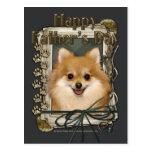 Fathers Day - Stone Paws - Pomeranian Postcard