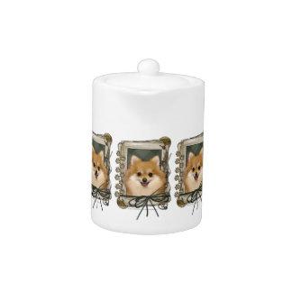 Fathers Day - Stone Paws - Pomeranian Teapot