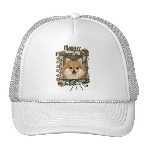 Fathers Day - Stone Paws - Pomeranian Trucker Hat