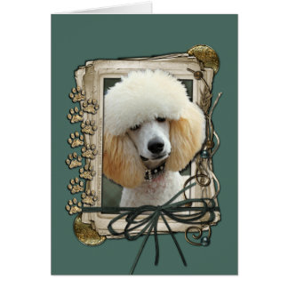 Fathers Day - Stone Paws - Poodle - Apricot Card