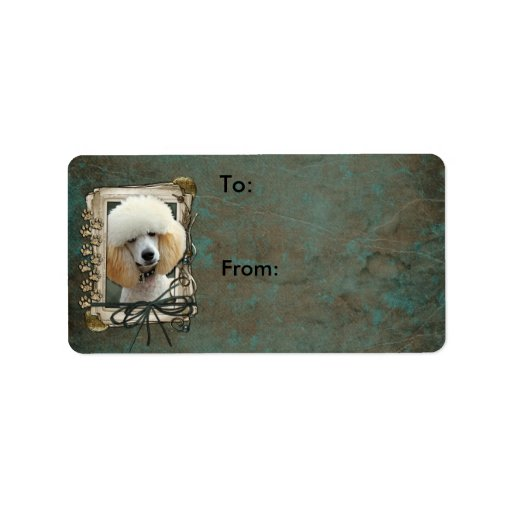 Fathers Day - Stone Paws - Poodle - Apricot Personalized Address Labels