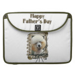 Fathers Day - Stone Paws - Poodle - Apricot Sleeve For MacBook Pro