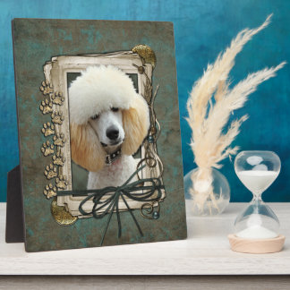 Fathers Day - Stone Paws - Poodle - Apricot Plaque