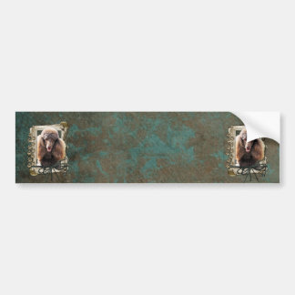 Fathers Day - Stone Paws - Poodle - Chocolate Bumper Sticker