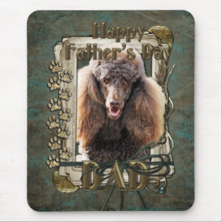 Fathers Day - Stone Paws - Poodle - Chocolate -Dad Mouse Pad