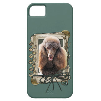 Fathers Day - Stone Paws - Poodle - Chocolate iPhone SE/5/5s Case