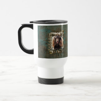 Fathers Day - Stone Paws - Poodle - Chocolate Mug