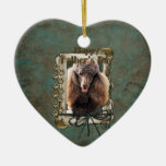 Fathers Day - Stone Paws - Poodle - Chocolate Ornament