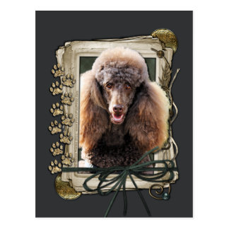 Fathers Day - Stone Paws - Poodle - Chocolate Postcard