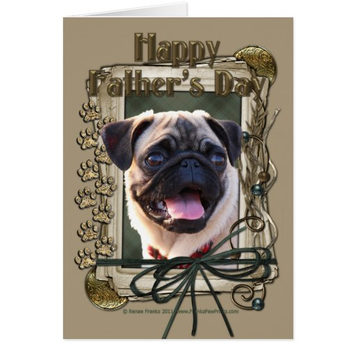 Fathers Day - Stone Paws - Pug Card