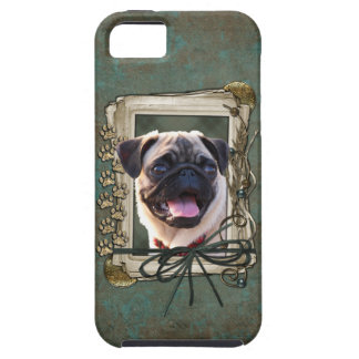 Fathers Day - Stone Paws - Pug iPhone 5 Cover