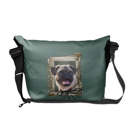 Fathers Day - Stone Paws - Pug Courier Bags