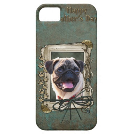 Fathers Day - Stone Paws - Pug iPhone 5 Cases