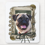 Fathers Day - Stone Paws - Pug Mouse Pad