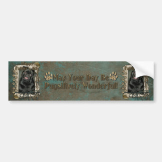 Fathers Day - Stone Paws - Pug - Ruffy Bumper Sticker