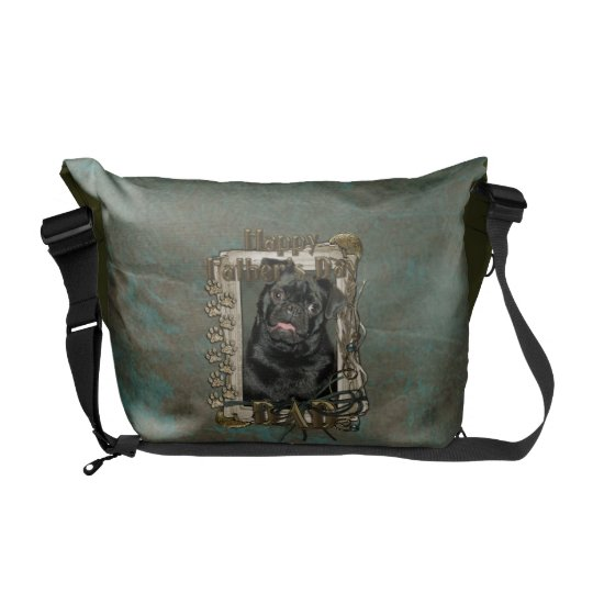 Fathers Day - Stone Paws - Pug - Ruffy Courier Bag
