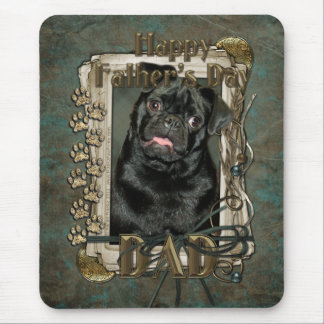 Fathers Day - Stone Paws - Pug - Ruffy - Dad Mouse Pad