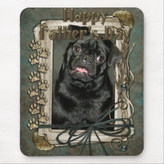 Fathers Day - Stone Paws - Pug - Ruffy Mouse Pad