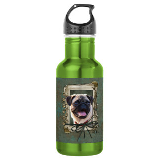 Fathers Day - Stone Paws - Pug Water Bottle