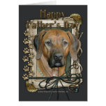 Fathers Day - Stone Paws - Rhodesian Ridgeback Greeting Card