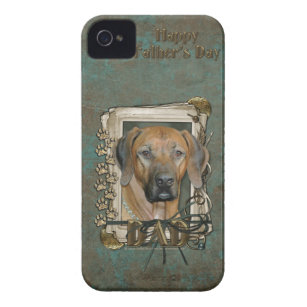 Fathers Day - Stone Paws - Rhodesian Ridgeback iPhone 4 Case-Mate Case