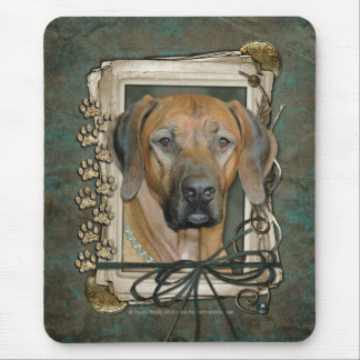 Fathers Day - Stone Paws - Rhodesian Ridgeback Mouse Pad