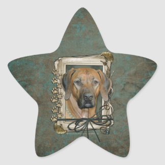 Fathers Day - Stone Paws - Rhodesian Ridgeback Star Stickers