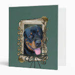 Fathers Day - Stone Paws - Rottweiler - Harley 3 Ring Binders