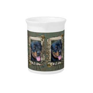 Fathers Day - Stone Paws - Rottweiler - Harley Drink Pitcher