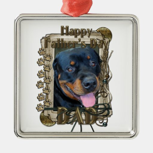 Fathers Day - Stone Paws - Rottweiler - Harley Ornament