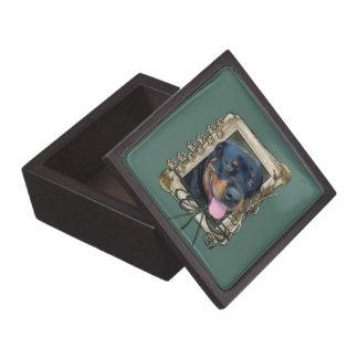 Fathers Day - Stone Paws - Rottweiler - Harley Premium Trinket Box