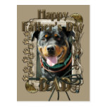Fathers Day - Stone Paws - Rottweiler Postcard